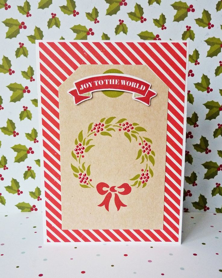 joy tothe world card || shimelle true stories & pink paislee merry and bright