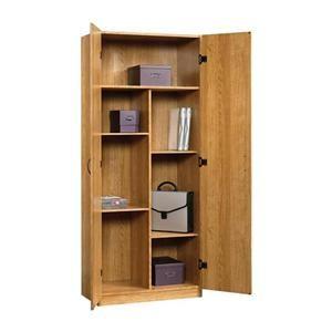 Beginnings 4 Shelf Storage Cabinet in Highland Oak | Nebraska Furniture Mart