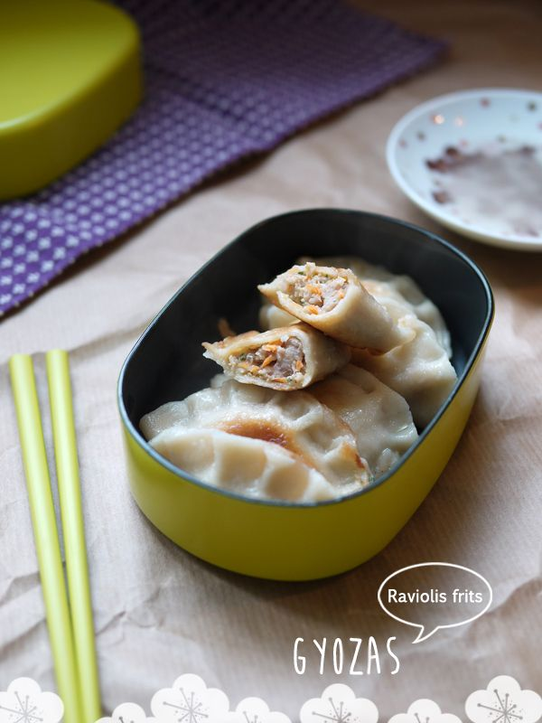 Gyozas {Raviolis frits Japonais} via http://cuisiner.avecnico.com