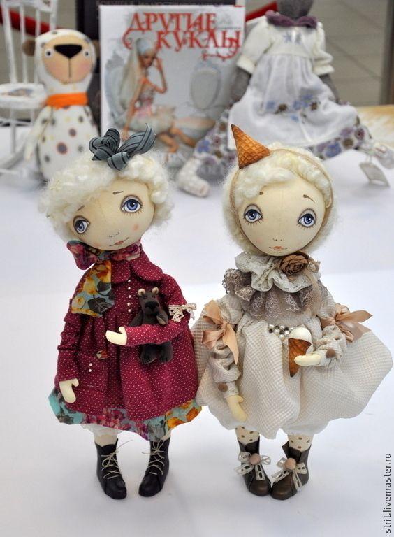 Купить Мороженое бывает разным..... - белый, тыквоголовка, текстильная кукла, грунтованный текстиль, сшить куклу
