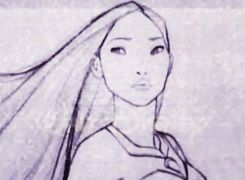 This is so beautiful!! Glen Keane pencil test of Pocahontas. This makes me love hand-drawn animation even more.