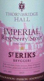 De Molen Beershop - Thornbridge/St. Erik's Imperial Raspberry Stout -De Molen Beershop