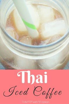 My Thai Iced Coffee gives an Asian flair to the usual coffee shop favorite! It's THM FP, sugar-free and Low-Carb!
