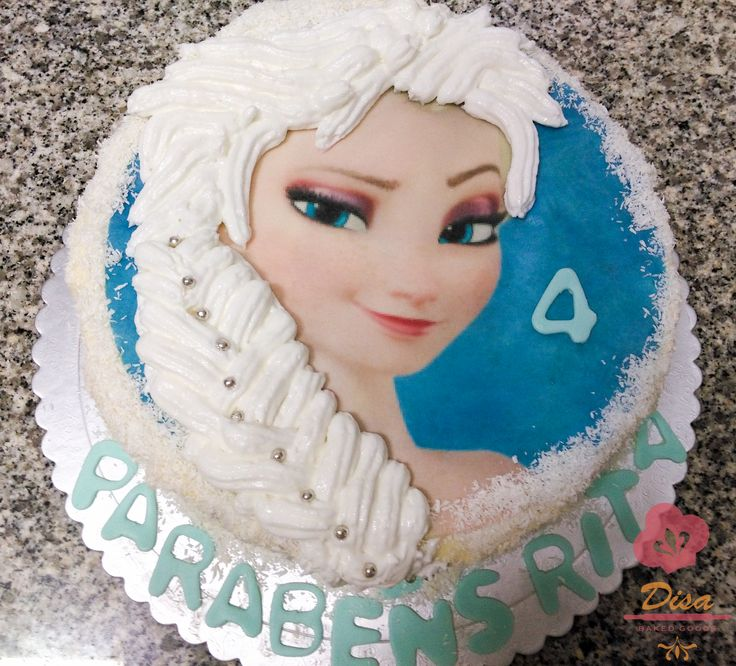 Elsa frozen cake, snow, could
