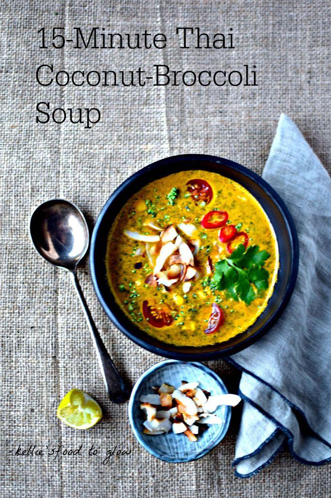 15-Minute Thai Coconut-Broccoli Soup Recipe