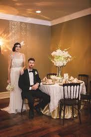 art deco wedding, bride and groom, 1920's headband, art deco table setting, flower centerpiece
