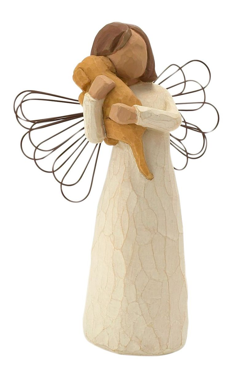 Willow Tree Angel of Friendship figurine ~ and what better symbol of friendship than a puppy!