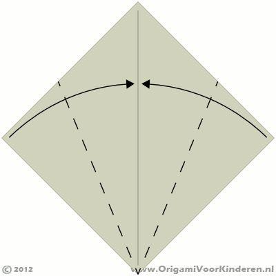 Origami instructies stap 2