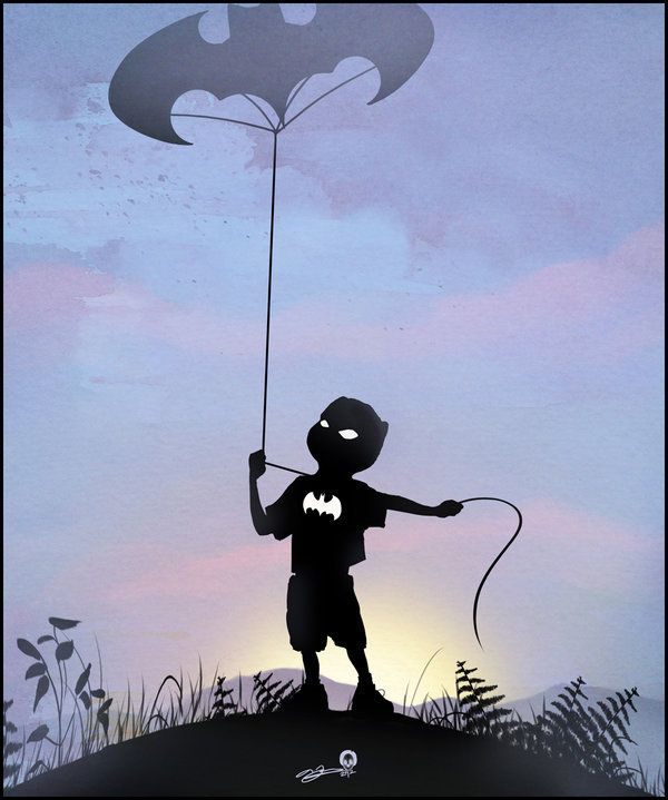 Superhero Kids: 25 Exceptional Silhouette Illustrations