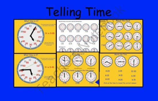 Smartboard Interactive Telling Time File product from Teaching-The-Smart-Way on TeachersNotebook.com
