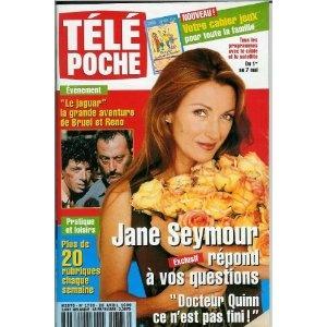Télé Poche (n°1733) du 26/04/1999 - Jane Seymour - Le Jaguar - Dany Carrel - Catherine Jacob - Elizabeth Gracen - Gérard Oury - Matt Le Blanc - Robert Duvall - ... [Magazine mis en vente par Presse-Mémoire]