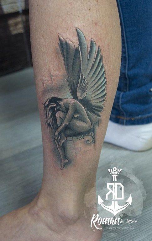 tetovanihradec.jalbum.net  black white angel tattoo