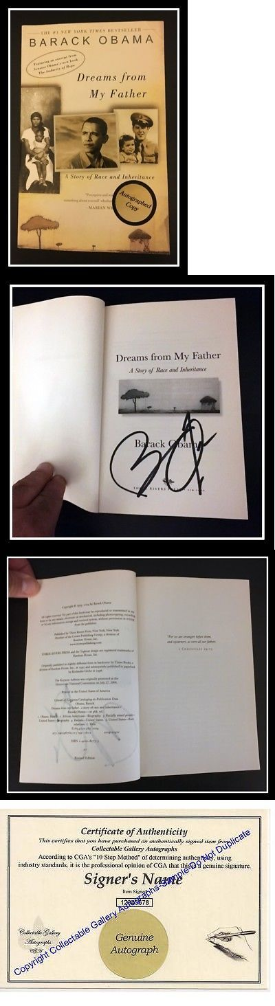 Barack Obama: Autographed Hand Signed Dreams From My Father By Barack Obama Pb Ed Coa Free Sandh -> BUY IT NOW ONLY: $199.92 on eBay!