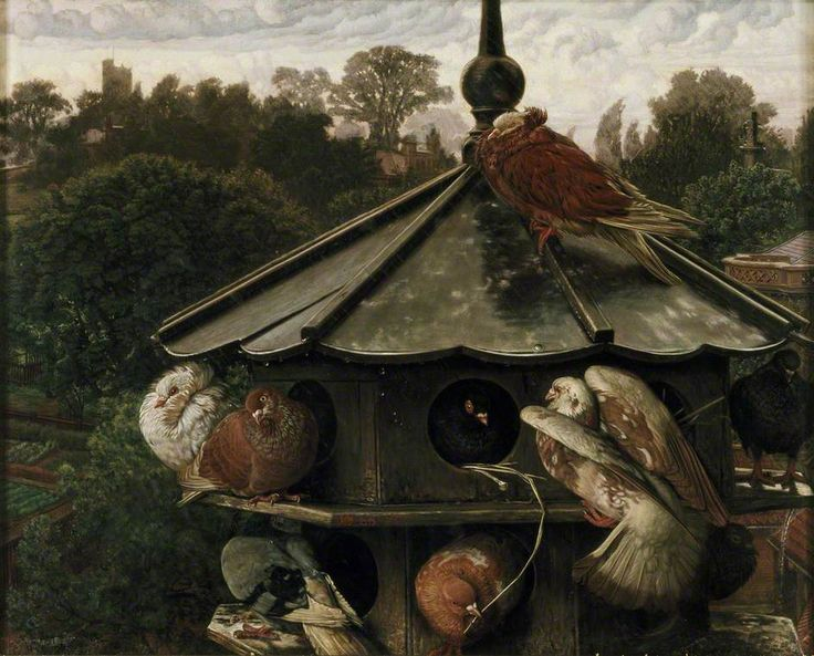 The Festival of St. Swithin (The Dove Cote) 1865, By William Holman Hunt (1827-1910)