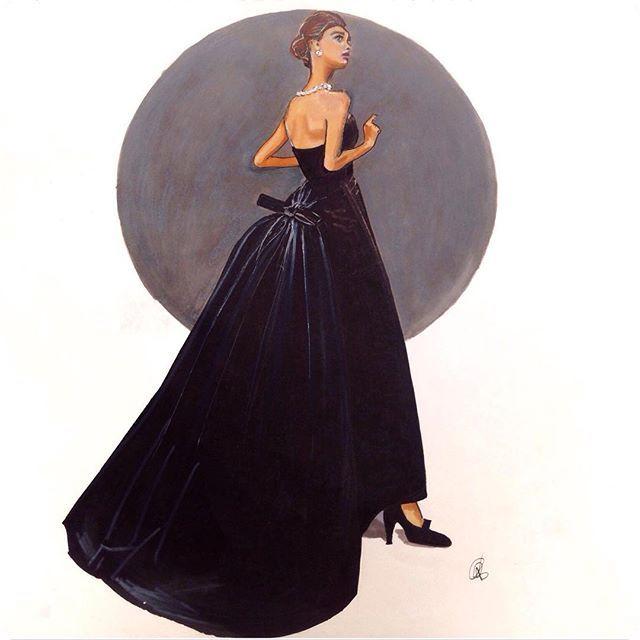 Dreaming of vintage @dior #vintagedior #blackballgown #thatdress #hautecouture