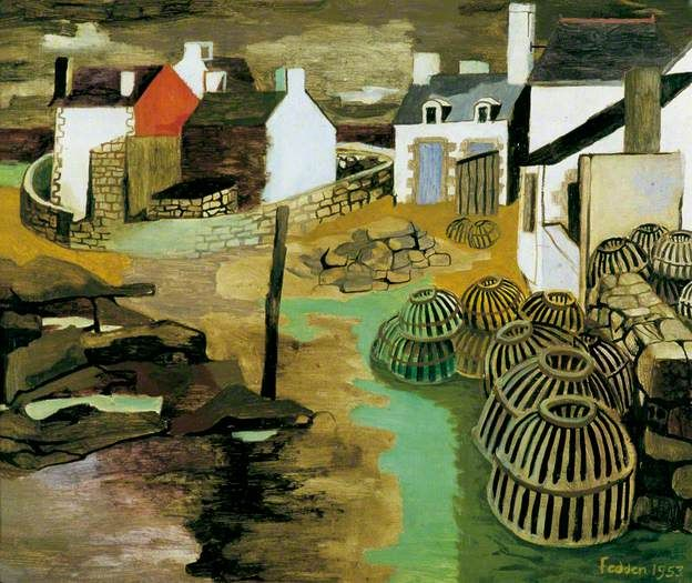 Lesconil, Brittany Mary Fedden 1953. In 1951, Mary Fedden married the artist Julian Trevelyan. She went on to teach painting at the Royal College of Art from 1956 to 1964, the first woman tutor to teach in the Painting School.[2] Her pupils included David Hockney and Allen Jones. She subsequently taught at the Yehudi Menuhin School in Cobham, Surrey,[4] from 1965 to 1970.
