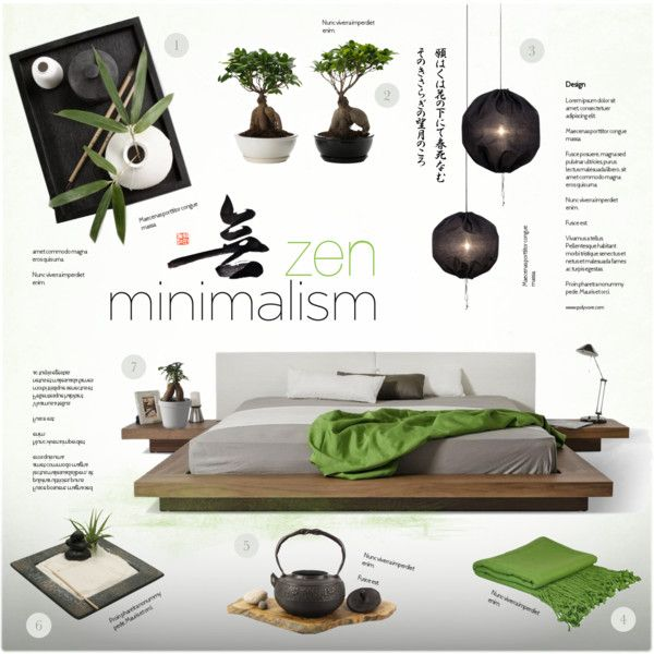 Zen Bedroom by nyrvelli on Polyvore featuring interior, interiors, interior  design, home,