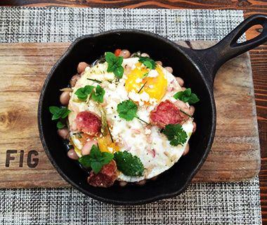 Fig, Santa Monica, CA Fig's huevos rancheros recipe was originally developed for a private brunch during the Sundance Film Festival. The ove...