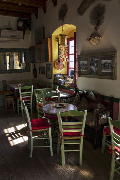 Quiet afternoon in a cafe in Chora, Amorgos island
