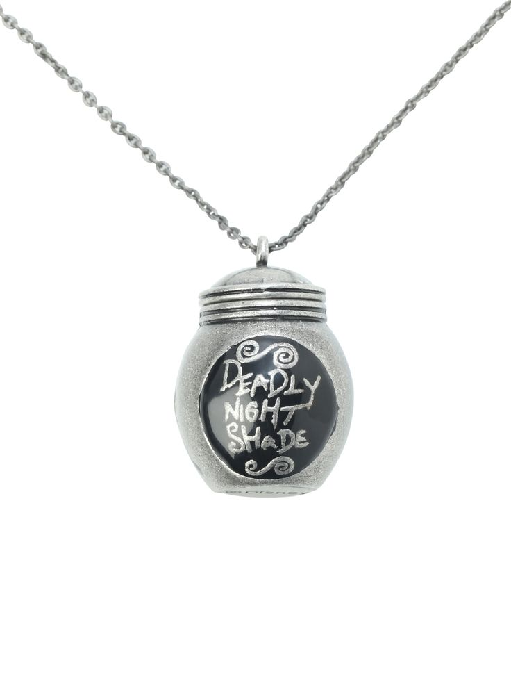 The Nightmare Before Christmas Deadly Night Shade Necklace. WANT! BEST NECKLACE EVER