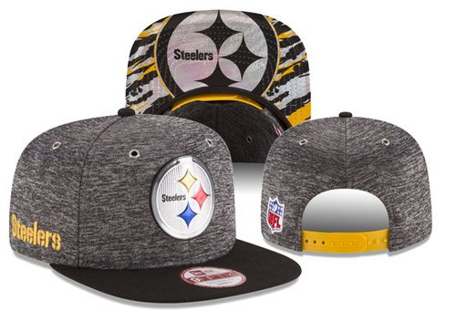 NFL Pittsburgh Steelers Heather Gray Snapback Hats 2016 NFL Draft 9FIFTY only US$8.90 - follow me to pick up couopons.
