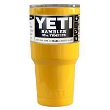 Custom 30 oz YETI Yellow Gloss Rambler Tumbler