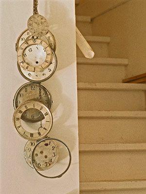 clocks.: Wall Art, Vintage Clocks, Old Clocks, Fleas Marketing Finding, Industrial Design, Design Home, Modern House, Ticking Tock, Clocks Faces