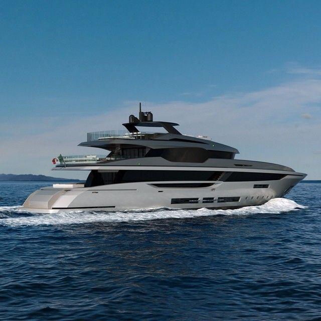#hotlab_yachtdesign present the new #MondoMarine #M43 #semidisplacement #yacht #…