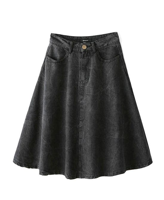Denim High Waist Skirt