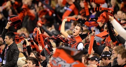 The wave, as instituted by Kevin Sheedy.
