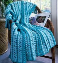 Cluster Mile-A-Minute Crochet Afghan Pattern | Free Patterns