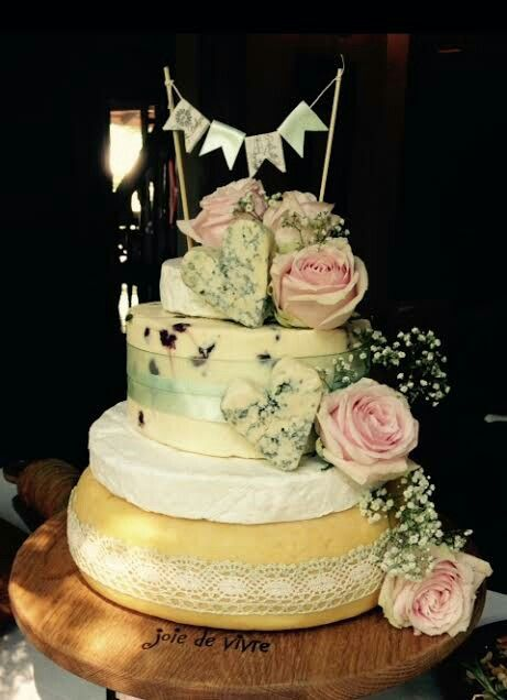 Cheese tower grooms cake
