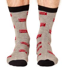 Routemaster men's super-soft bamboo crew socks | London Collection by Braintree