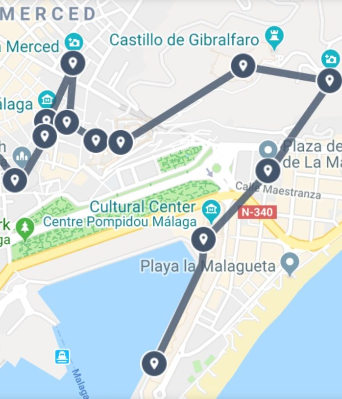 Hotspots of Downtown Malaga Guide Map | Sightseeing Maps in ... on map of cudillero, map of getxo, map of puerto rico gran canaria, map of bizkaia, map of penedes, map of macapa, map of monchengladbach, map of sagunto, map of graysville, map of tampere, map of mount ephraim, map of venice marco polo, map of marsala, map of iruna, map of italica, map of costa de la luz, map of soria, map of andalucia, map of isla margarita, map of mutare,