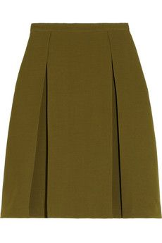 Gucci Pleated wool and silk-blend crepe skirt | NET-A-PORTER