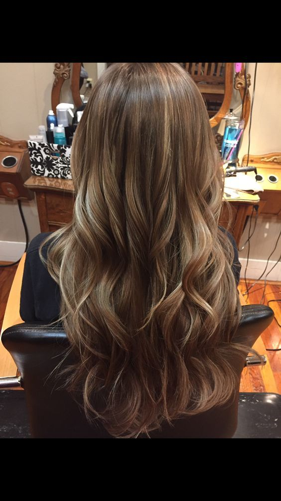 Brown hair with Carmel highlights: