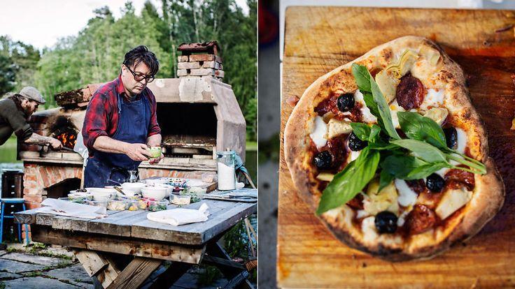 Slik lager Vardøen pizza i sin egen hage