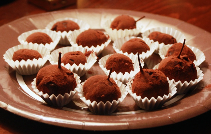 French chocolate truffles