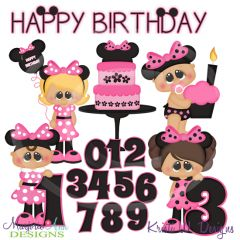 A Very Minnie Birthday SVG Cutting Files Includes Clipart