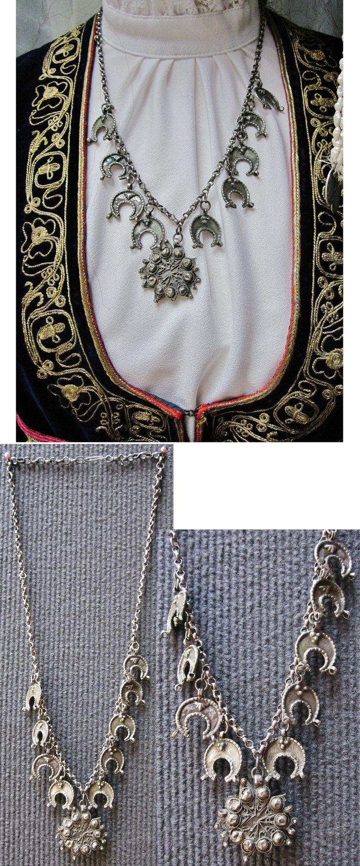 Silver necklace from Central Anatolia.  Made in an Armenian workshop in Sivas, late-Ottoman, c. early 20th century.  (Inv.nr. müç015 - Kavak Costume Collection - Antwerpen/Belgium).