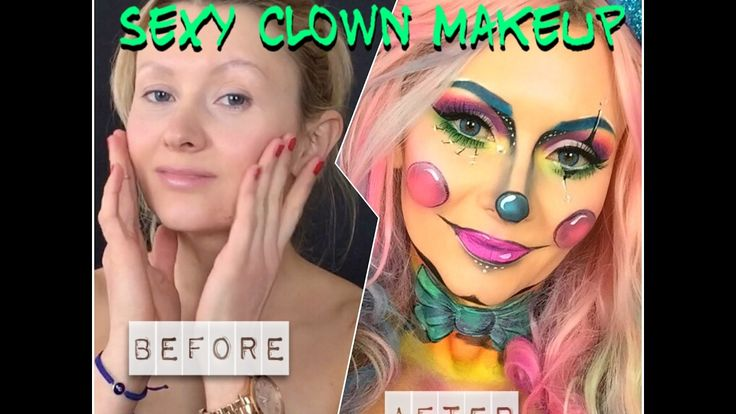 Sexy Clown Makeup | Clown Schminken | Karneval Facepainting Tutorial - YouTube