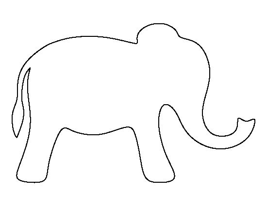 Simple elephant pattern. Use the printable outline for crafts, creating stencils, scrapbooking, and more. Free PDF template to download and print at http://patternuniverse.com/download/simple-elephant-pattern/