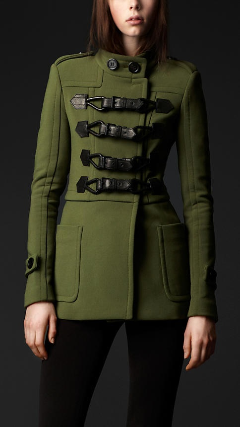 Burberry | drop waist duffle trench jacket
