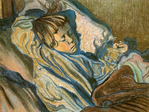 """Stanisław Wyspiański """"Śpiący Mietek"""", 1902 (Muzuem Narodowe w Krakowie)"""