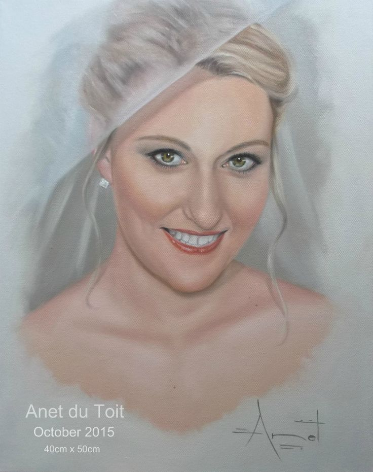 The Bride Oil on canvas 40cm x 50cm Commissioned SOLD