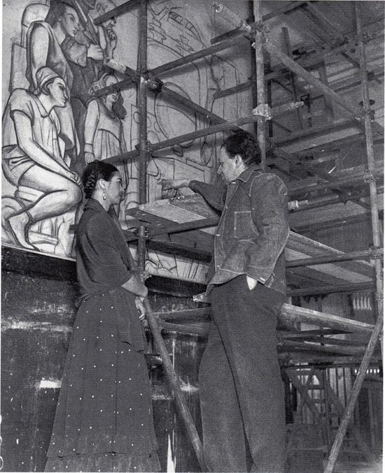 189 best frida kahlo images on pinterest diego rivera for Diego rivera mural new york rockefeller