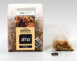 Ratafia special infusion, produced by Alma, from herbs, barks and flowers, inspired by the popular digestive liqueur.    http://www.almahome.es/DetallesArticulo.aspx
