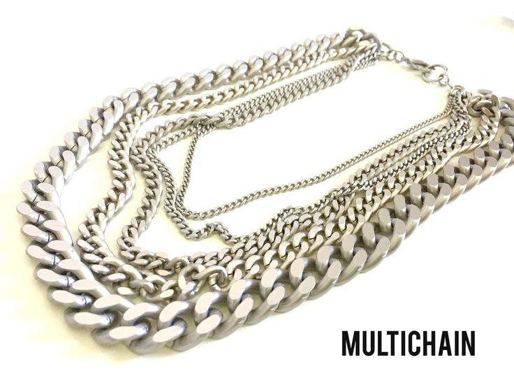 Un Multicatena argento per festeggiare al meglio ❤️ MULTICHAIN - F/W 2016