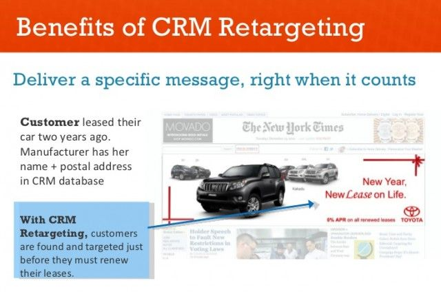 CRM Retargeting - Recapture Your Audience With Your Ads http://blog.v12software.com/crm-retargeting-recapture-your-audience-with-your-ads/