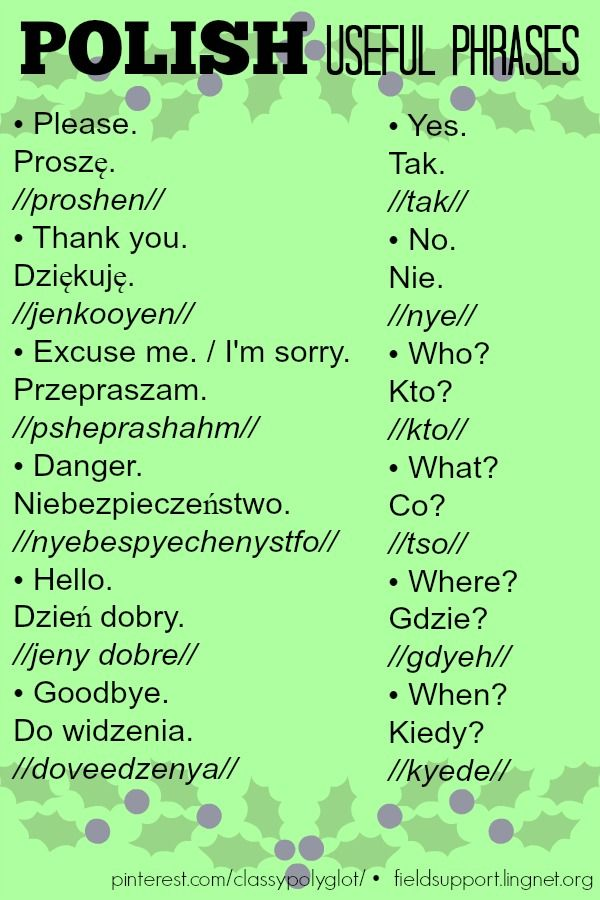 Useful Phrases | Polski